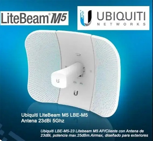Imagen 1 de 5 de Ubiquiti M5-23 Litebeam Airmax / Direccional 5ghz 23dbi Wifi