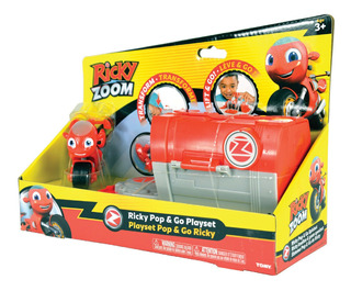 Moto Ricky Zoom Dj Pop Go Playset Garage Transformable Figur