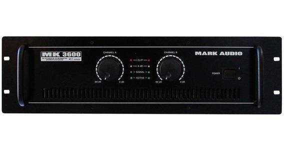 Amplificador Potência Mark Audio Mk3600 600w Rms 4 Ohms
