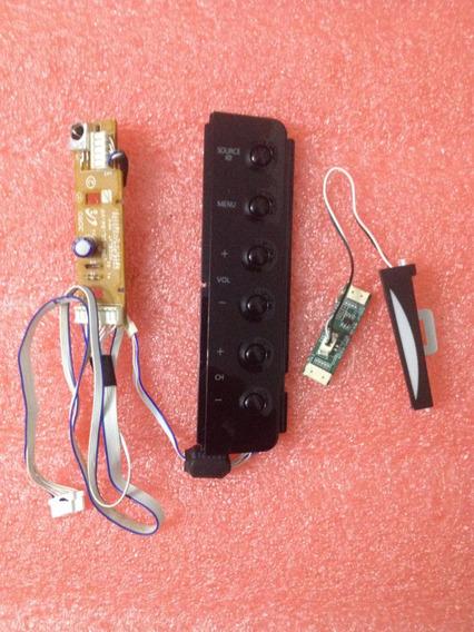 Teclado E Sensor Do Controle Remoto Tv Samsung T 220m