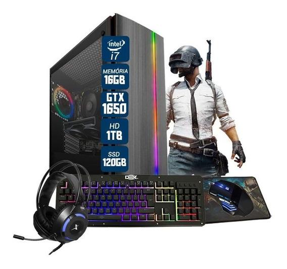 Pc Gamer Bravus Intel I7 Gtx 1650 16gb Hd 1tb Ssd 120gb