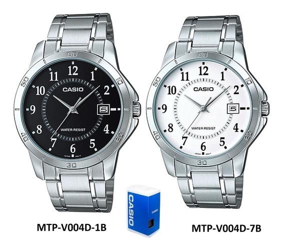 Reloj Casio Quartz Mtpv004 Hombre Acero *watchsalas* Full