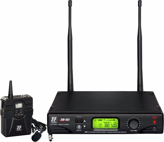 Microfone Lapela Body Pack Uhf Staner Sw 481 Digital