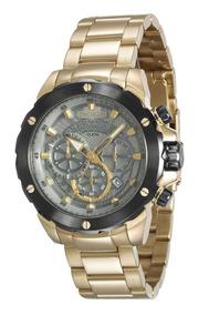 Relógio Seculus Masculino Preto Com Rosé 13017gpsvia2