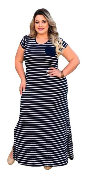 Vestido Longo Plus Size Na Viscolycra Lançamento!