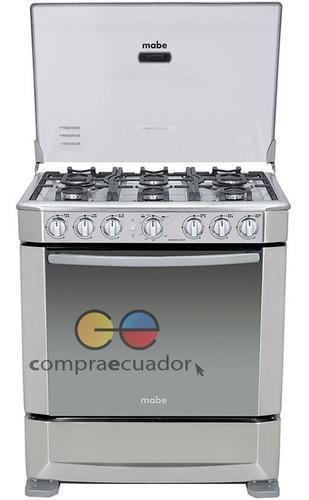 Mabe Cocina Ingeniuos 7630 A Gas 6 Quemadores Grill Cromada