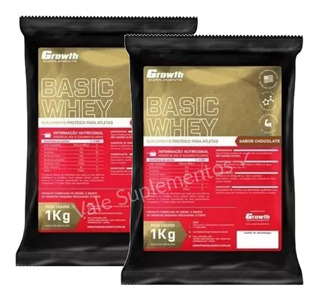 2x Whey Protein Growth Basic (2 Kg) Sabor Chocolate