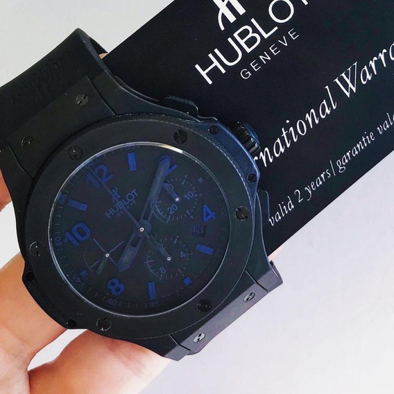 Hublot Big Bang 44 Mm All Black & Blue 44mm