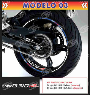 Adesivo Friso Refletivo Bmw G310r G 310r + Adesivos Int M03