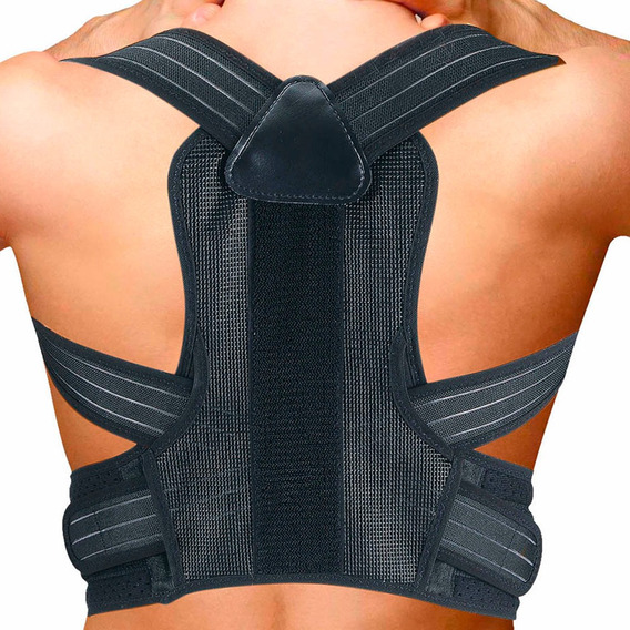 Faja Corrector Postura Ajustable Barra Acero Unisex Suavidad