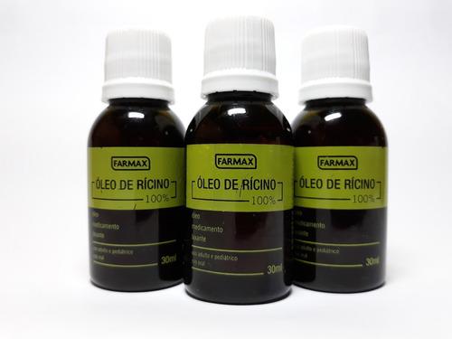 Óleo De Ricino Crescimento Capilar Puro Kit C\ 03 Unid. 30ml