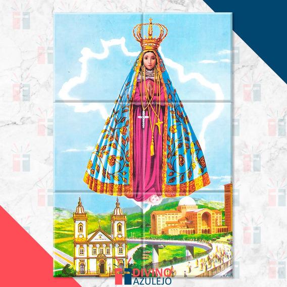 Quadro Nossa Senhora Aparecida - Mosaico Em Azulejo