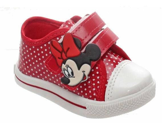 Tenis Sapato Da Minnie Infantil Feminino Meninas