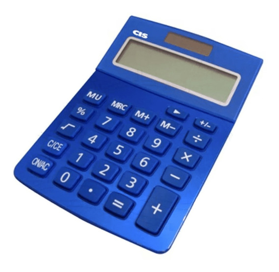 Calculadora De Mesa Cis 12 Dígitos Dual Power C-219 Azul