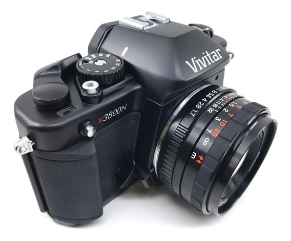 Camera Vivitar V3800n + Lente 50mm 1.7 Nova Nunca Usada Cxa