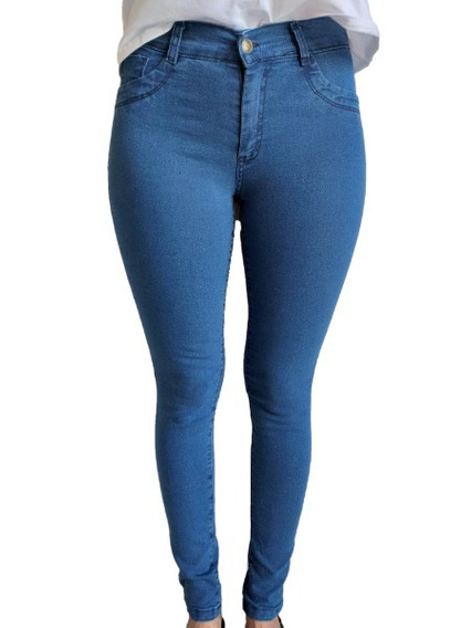 6 Jeans Mujer Chupin Tiro Alto Por Mayor Envío Gratis
