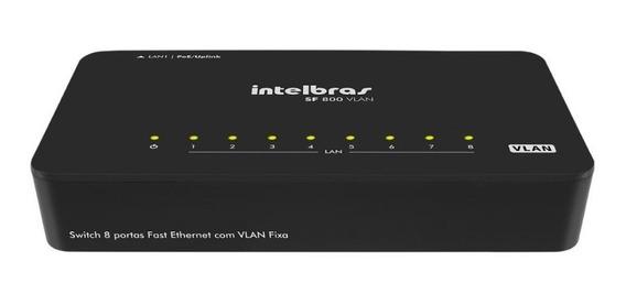 Kit 50 Switch 8 Portas Fast Ethernet Com Vlan Fixa Sf 800