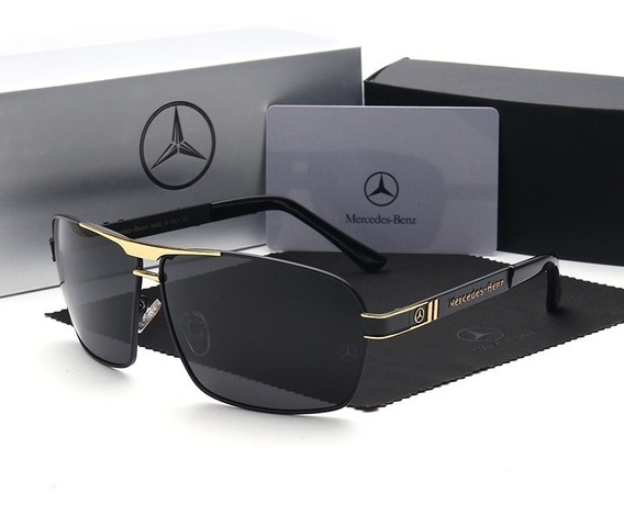 Óculos Sol Mercedes Benz Polarizado Uv400+ Box Personalizado