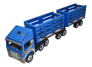 Caminhão Bitrem Carreta Brinquedos Carrinho Baú Provençal