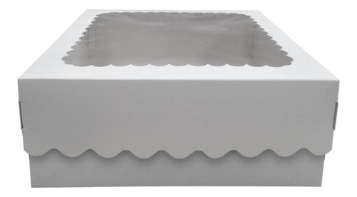 Caja Para Desayuno O Torta 24x24x12 Con Visor X10c