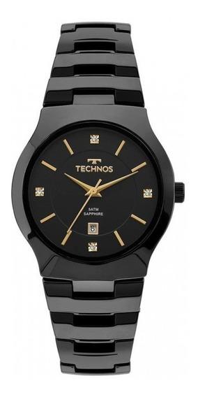 Relógio Technos Gn10au/4p Preto Cerâmica Cristais Sapphire