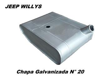 Tanque Jeep Willys En Chapa Galvanizada 20 Directo Fabrica