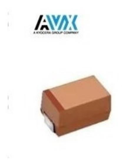 Capacitor Tantalo Avx 1210 100uf 10v ( Kit C/ 5 Unidades)