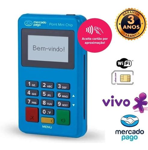 Imagem 1 de 7 de Maquina De Cartão Point Mini Chip -envio Rápido Chip Da Vivo