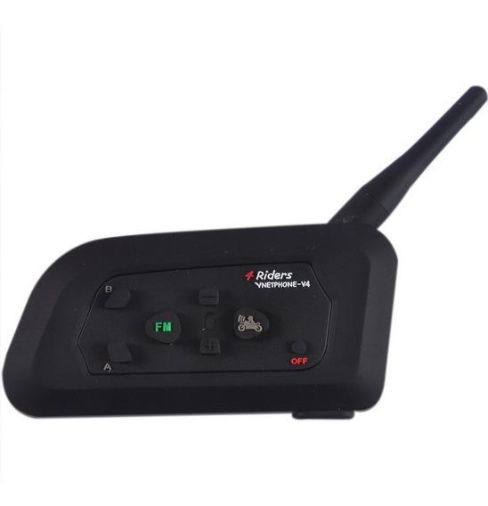 Intercomunicador Bluetooth Casco Moto Fm V4 1200m Ejeas