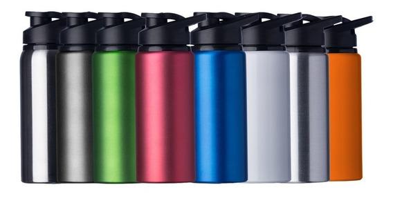 Kit 20 Squeeze 600ml Alumínio Personalizado Em 1 Cor