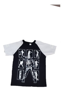 Remera Fortnite Esqueleto Baile (brilla En La Oscuridad)