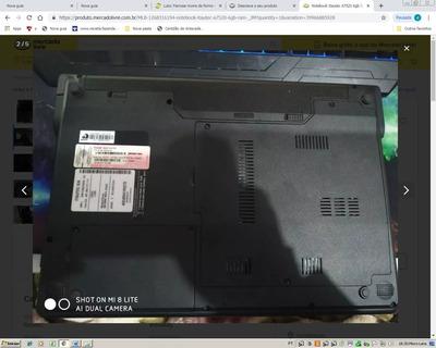 Notebook Itautec A7520 4gb Ram