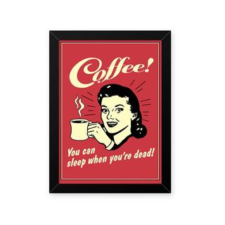 Quadro Girl Coffee 23x33cm