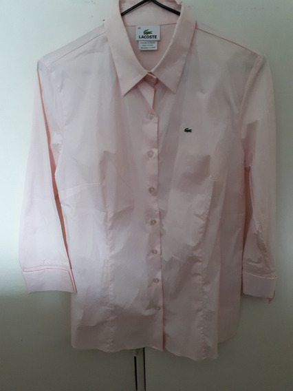 Camisa Rosa Lacoste Talle 40