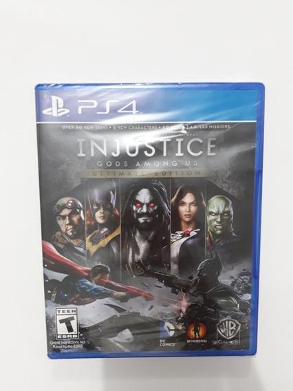 Injustice Gods Among Us Ultimate Edition Ps4 Novo Lacrado