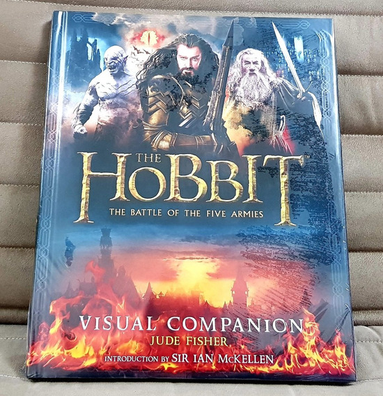 Livro Hobbit Battle Five Armies Visual Companion - Capa Dura