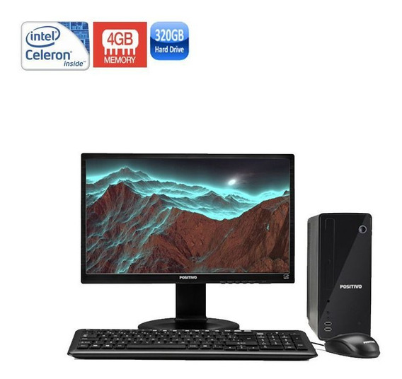 Computador Positivo Completo 4gb 320gb Monitor