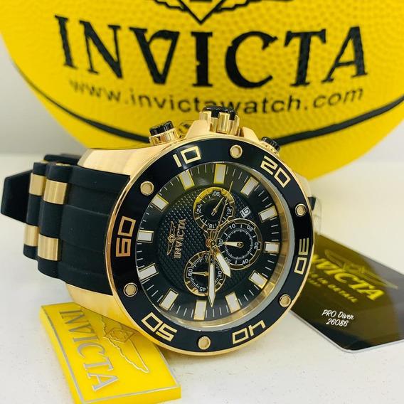 Relógio Invicta Pro Diver 26086 - Ouro 18k