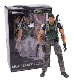 Chris Redfield Figura Acción 26cm Resident Evil Play Arts