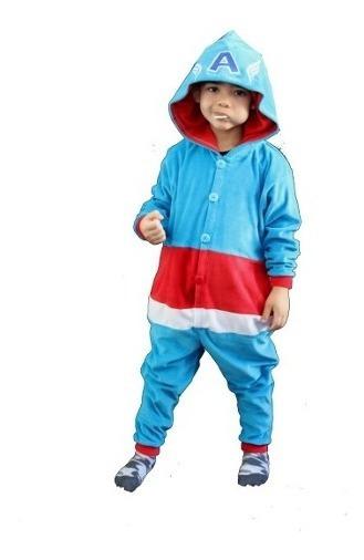 Pijama Capitão América Marvel Vingadores Roupa Infantil Bebê