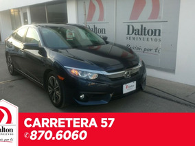 Honda Civic 1.5 Turbo Cvt 2017 Azul Obsidiana