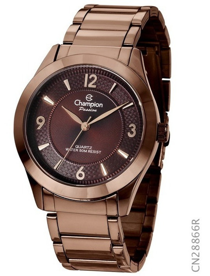 Relogio Champion Chocolate Feminino Medio Original