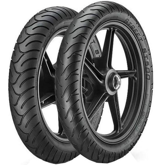 Par Pneu Twister Fazer 250 100/80-17 + 140/70-17 St500 Vipal