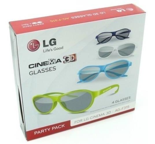 Oculos 3d Tv Lg Ag-f315 - Caixa C/4 Unidades - Novo Original