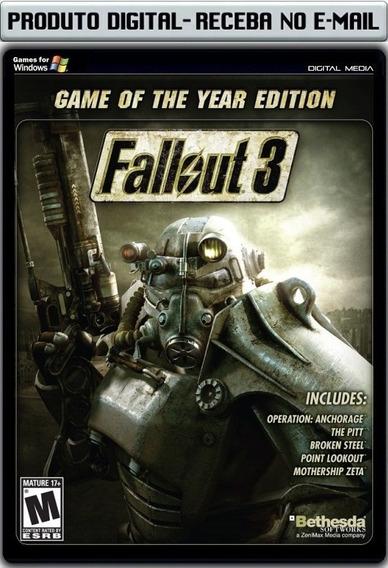 Fallout 3 Com Expansões - Pc - Envio Digital