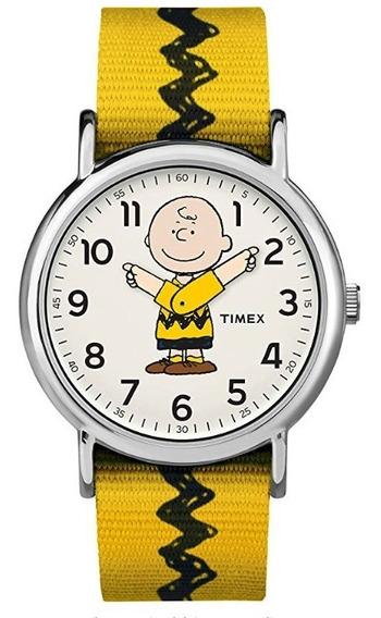 Reloj Timex Charlie Brown Weekender Unisex 12 Msi Env Gratis