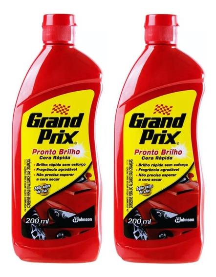 Kit 2 Ceras Liquidas Grand Prix Pronto Brilho 200ml Johnson