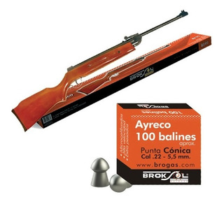 Rifle Aire Comprimido 5.5mm + 1000 Balines Camping Pesca