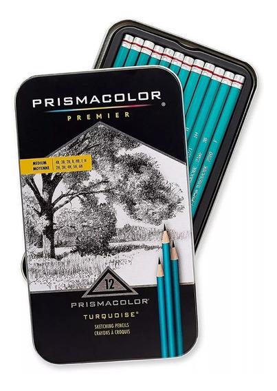 Prismacolor Premier - Turquoise - 12 Lápis - Médio