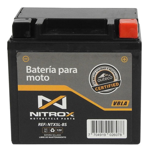 Imagen 1 de 2 de Batería Nitrox  Moto Pulsar Ns 160